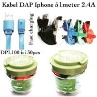 Merk DAP DPL100 kabel data USB Iphone 5 6 7 8 X 1meter Fast Charging R
