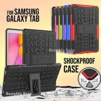 Samsung Tab A 8.0 A8 8 inch 2019 P205 S-Pen Armor Case Cover Casing - Merah