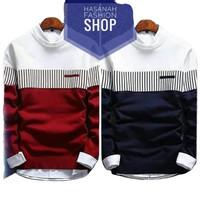 Sweater Pria Wanita Zico Red Navy | rajut | merah | bomber | parka