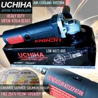 Mesin gerinda uchiha type 802 variable speed angle grinder gurinda
