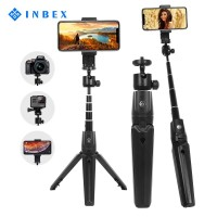 INBEX Tongsis Selfie Stick Mini Tripod Photograph Bluetooth Remote