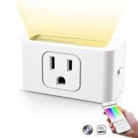 New Smart Wifi Socket US Plug With Dimmable LED Night Light