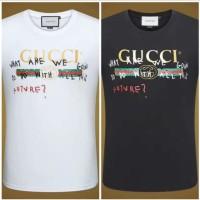 Baju Kaos Pria GUCCI Original Hitam/Putih