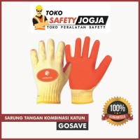 Sarung Tangan Katun Karet Glove Latex Grip Safety - Gosave Jogja