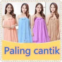 Baju Handuk / Jubah Mandi BathRobe Bentuk Dress Premium A - Biru