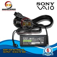 Adaptor Charger Original Laptop Sony Vaio 19.5V - 4.74A DC 6.5x4.4 mm
