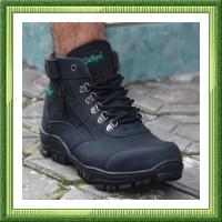 sepatu sefty pria GANN Sepatu Pria Zipper Boots Safety Ujung Besi