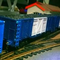 miniatur kereta api gerbong batubara railking