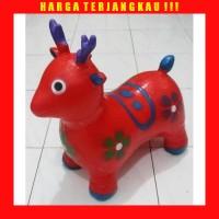 Mainan Kuda Jumping Bunyi Suara Model Kijang - Rusa Karet - Tunggang