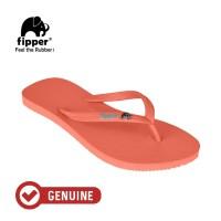 Fipper Glitter / Sandal Jepit Wanita / Peach - Blue Sky
