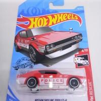 Hotwheels Nissan Skyline 2000 GTR Kenmeri Police Merah
