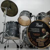 [NEGO TIPIS] Pearl EXR Export Series Black Strata Drum Set - Mulus