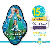 Jam Dinding FROZEN FEVER Favorit Anak - Tizo FROZEN FEVER Clock FF-1