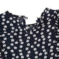 Setelan Musim Panas Blus Tanpa Lengan Motif Print+Celana Pendek+Ikat