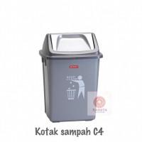 Tempat Sampah Plastik Dustbin 10Liter C-4 Lion Star Kotak Sampah