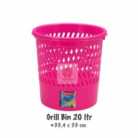 Grill Bin 20Liter C-31 Tempat Sampah Lion Star Kotak Sampah Plastik