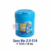 Kotak Sampah Plastik Lion Star Sanybin 2Liter C-16 Tempat Sampah Mini