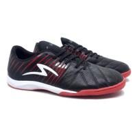 Sepatu Futsal Specs Barricada Lea 19 IN (Black/Emperor Red)