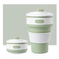 Gelas Lipat Silikon / Portable / Collapsible Cup - warna Hijau
