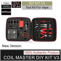 Authentic Coil Master DIY KIT V3 | alat tas vape lengkap original tool
