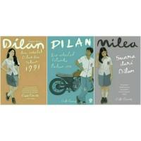 1 Set Novel Dilan 1   Dilan 2   Mileaq
