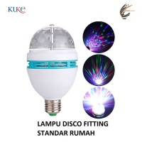 Lampu DISCO LED Fitting tumblr mini otomatis disko warna warni RGB