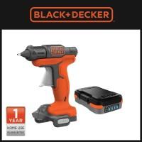 Paket Perkakas - Black Decker Glue Gun Lem Tembak dan Baterai
