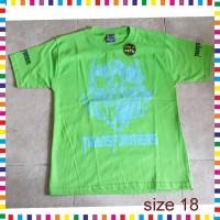 SALE - Baju Kaos Tshirt Anak Laki Transformers Hijau Size 18 Cowok