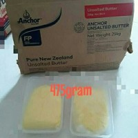 Butter anchor unsalted repack box plastik 475gram