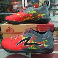 sepatu sapatu futsal putsal specs spec cyanide tnt 19 merah red grey