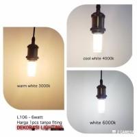 L106 lampu bohlam led 6watt fiting e14 candle terang hias gantung - Warm White
