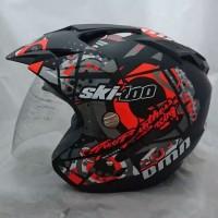 Helm motor murah SNI DMN 2 kaca double visor
