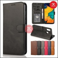Flip Case Wallet Leather Cover Vivo V11 / V11i Leather Flip Case - Navy