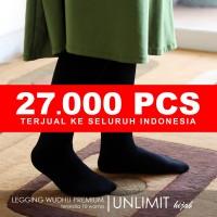 LEGGING WUDHU PREMIUM Original by UNLIMIT hijab - Cokelat Khaki