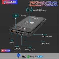 Ultimate Power WC10 PRO Fast Charging Wireless Powerbank 10000mAh
