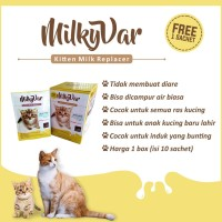 Susu anak kucing Milkyvar 1 box