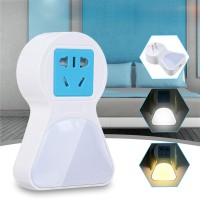 New 5A 9 LED Plug Socket Lamp Plug-in Wall Hallway Night Light