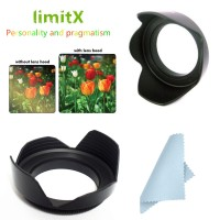 limitX 55mm Flower Lens Hood for Sony FDR-AXP55 FDR-AX40 FDR-AX53