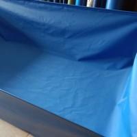 kolam terpal PVC semi karet 2x1x1 + drainase pmbuangan