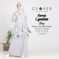 Gamis terbaru LYNDEE ORI Clover Clothing bahan Yarn Dyed aksen layer