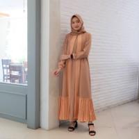 Gamis Vera / fashion muslim / plisket bawah outer/ terbaru