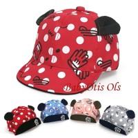 Polkadot Glove Baby Hat Topi Anak Bayi Lucu Karakter Baseball