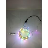 Lampu Natal Led Tembaga 100 LED - AC Multi (dimmer) + Waterproof