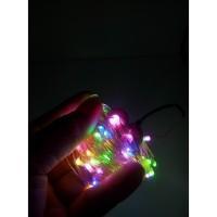 Lampu Natal Led Tembaga 100 LED - AC RGB + Waterproof
