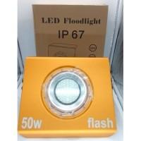 Lampu Sorot LED Metalik, 50WATT (Waterproof)