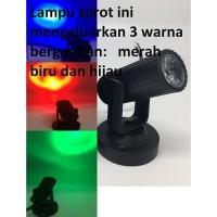 Lampu Sorot Mini Led 1watt RGB