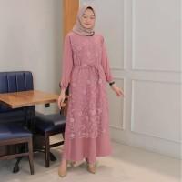 Alma Dress Muslim | Gamis Brukat Import Murah & REALPICT