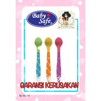BABY SAFE WEANING SPOON BS351/Baby Safe Sendok Makan Bayi BS351