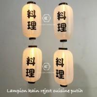 lampion capsule reject kain ryori /cuisine putih 25 x 45