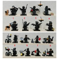Lego SY Minifigure Military Army Swat Team With Accesories-Weapon